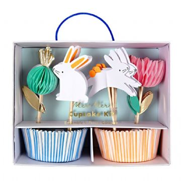 Easter Bunnies & Honeycomb Flowers Cupcake Kit